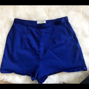Blue high wasted shorts!